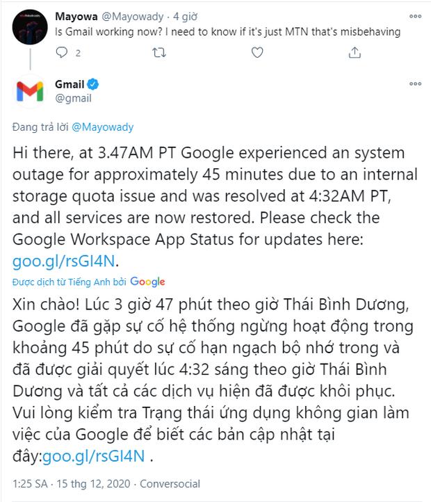 Hé lộ nguyên nhân Google bị sập diện rộng trên toàn cầu - Ảnh 2.
