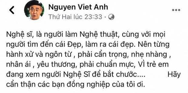 Biến căng: NS Việt Anh lên tiếng nhắc nhở đàn em nghệ sĩ sau lùm xùm gymer, Cát Phượng đăng đàn phản pháo cực gắt - Ảnh 1.