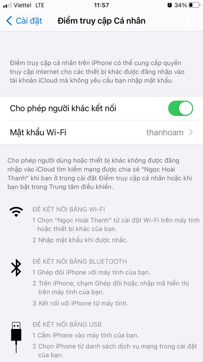 Cách chia sẻ Internet từ iPhone nhanh nhất - ảnh 1