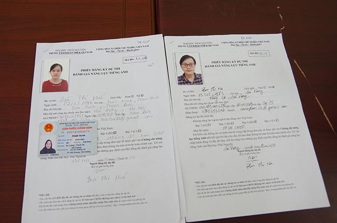 Nhóm đối tượng dùng giấy tờ giả thi thuê tiếng Anh B1 tại ĐH Thái Nguyên - Ảnh 3.