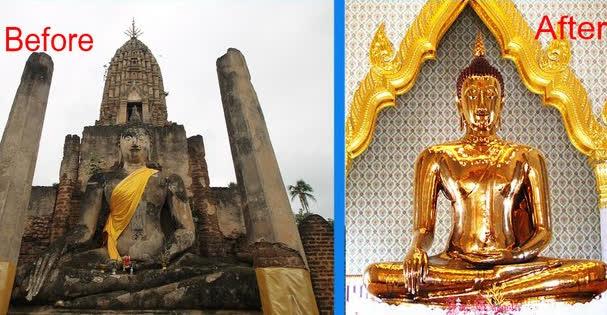 Xe cẩu đứt dây làm bức tượng Phật 5,5 tấn rơi xuống đất - Điều bất ngờ lộ ra khiến người chứng kiến kinh ngạc - Ảnh 1.