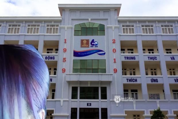 Nữ sinh 2K1 'chơi lớn' nhuộm tóc ton sur ton với các toà nhà của trường, xem thành tích học càng choáng váng hơn - ảnh 5