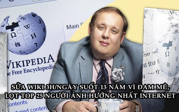 'Ông vua' bí ẩn của Wikipedia: Sửa nội dung 3 triệu lần, cặm cụi trong suốt 13 năm, được vinh danh top 25 người ảnh hưởng nhất Internet - Ảnh 1.