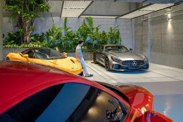 Hé lộ 1 góc quá khủng trong biệt thự của Cường Đô La: Riêng garage chứa siêu xe đã có 2 tầng, phải đi thang máy mới hết - Ảnh 5.
