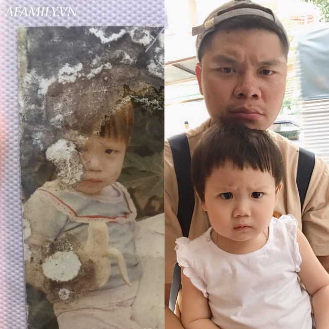 Bị đổ tại khó ở lúc bầu nên sinh con ra mặt cau có, mẹ trẻ được minh oan sau khi tìm thấy bức ảnh ngày bé của chồng - Ảnh 7.