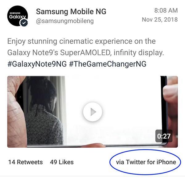 Nhóm nhạc được Samsung tài trợ lại sử dụng iPhone để đăng nội dung lên mạng xã hội - Ảnh 3.