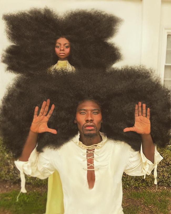 2 bố con sở hữu kiểu tóc xù bông bá đạo nhất thế giới khiến ai nhìn cũng trầm trồ và còn ghi tên vào kỉ lục Guinness - Ảnh 3.
