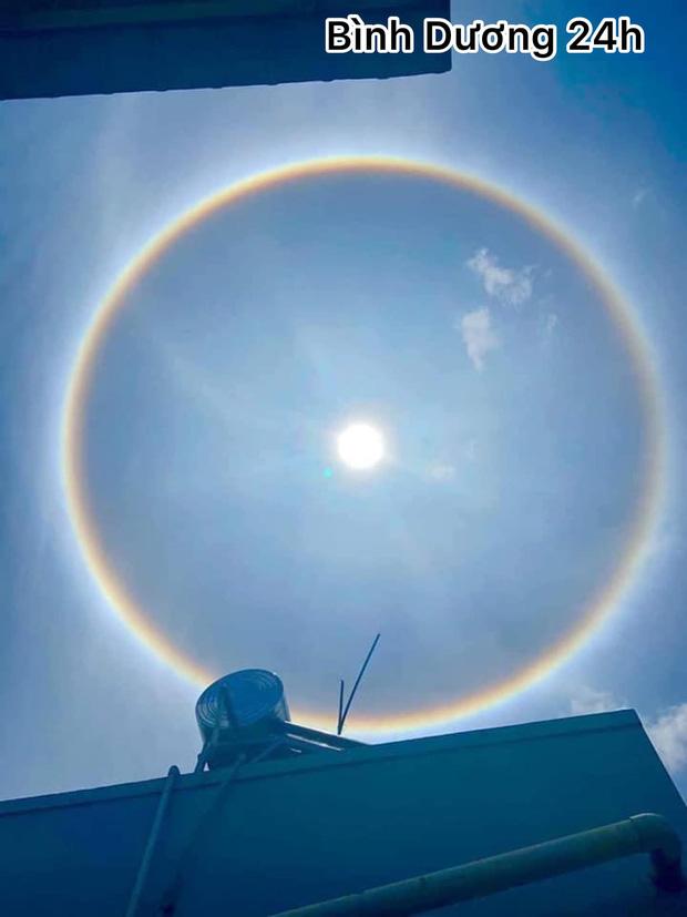 Người dân Sài Gòn, Vũng Tàu và nhiều tỉnh thành thích thú chụp lại hiện tượng quầng sáng bao quanh mặt trời - Ảnh 7.
