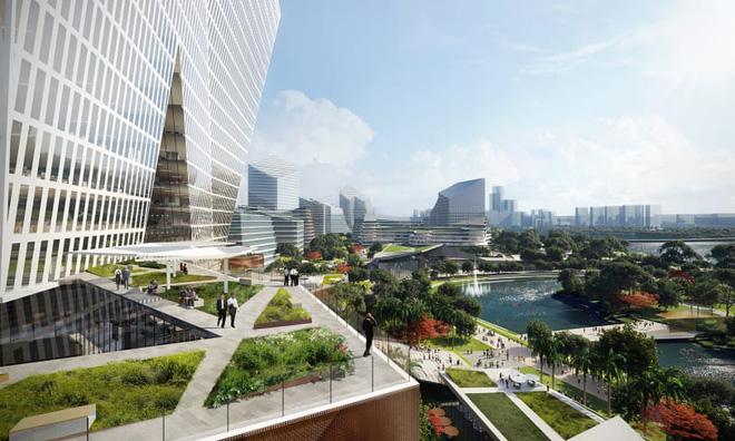 Dự án thành phố tương lai của ông lớn công nghệ Tencent: Rộng 2 km vuông, không bóng ô tô, tận dụng phương tiện tự hành - Ảnh 1.
