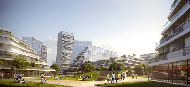 Dự án thành phố tương lai của ông lớn công nghệ Tencent: Rộng 2 km vuông, không bóng ô tô, tận dụng phương tiện tự hành - Ảnh 2.
