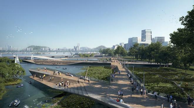 Dự án thành phố tương lai của ông lớn công nghệ Tencent: Rộng 2 km vuông, không bóng ô tô, tận dụng phương tiện tự hành - Ảnh 3.