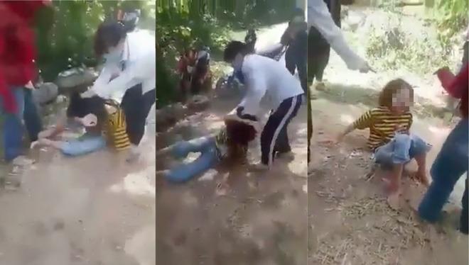 Xôn xao clip nhóm nữ sinh đánh đập bạn dã man trong rừng - Ảnh 1.