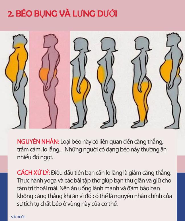 Nếu thấy mình có vẻ béo, hãy xem hình dưới đây để biết thừa mỡ ở chỗ nào trên cơ thể và cách xử lý chúng nhanh nhất có thể - Ảnh 2.