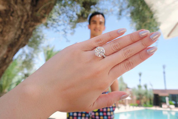 Nhẫn đính hôn tuyệt đẹp của Chryseis Tan.