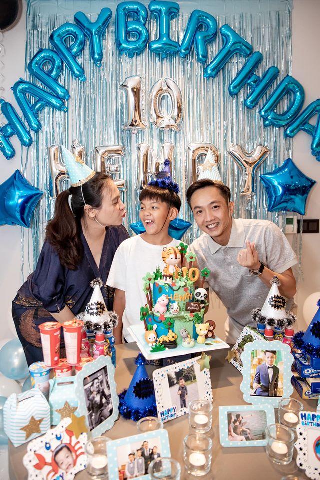 Cường đô la ddăng ảnh sinh nhật con trai, nhưng chiếc bụng lớn của Đàm Thu Trang gây chú ý - Ảnh 1.