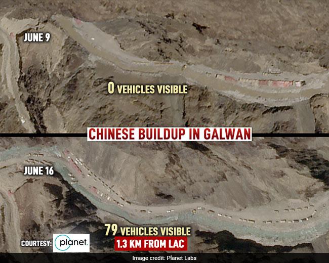 Ảnh vệ tinh vạch trần TQ: Điều 200 xe vây chiếm hồ nước, dùng máy ủi chặn sông của Ấn Độ? - Ảnh 1.