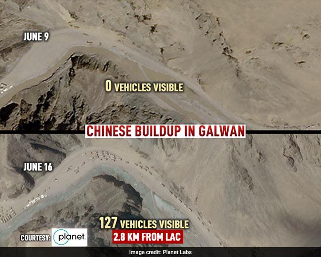 Ảnh vệ tinh vạch trần TQ: Điều 200 xe vây chiếm hồ nước, dùng máy ủi chặn sông của Ấn Độ? - Ảnh 2.