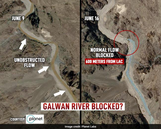 Ảnh vệ tinh vạch trần TQ: Điều 200 xe vây chiếm hồ nước, dùng máy ủi chặn sông của Ấn Độ? - Ảnh 4.