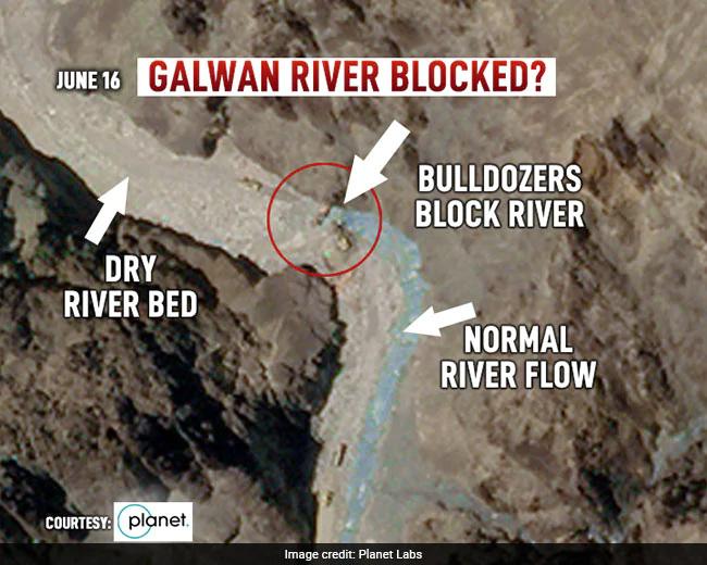 Ảnh vệ tinh vạch trần TQ: Điều 200 xe vây chiếm hồ nước, dùng máy ủi chặn sông của Ấn Độ? - Ảnh 5.