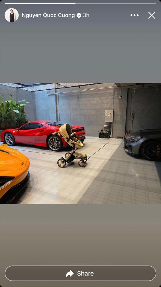 Cường Đô La khoe chiếc siêu xe đầu tiên dành tặng con đầu lòng giữa anh và Đàm Thu Trang - Ảnh 1.