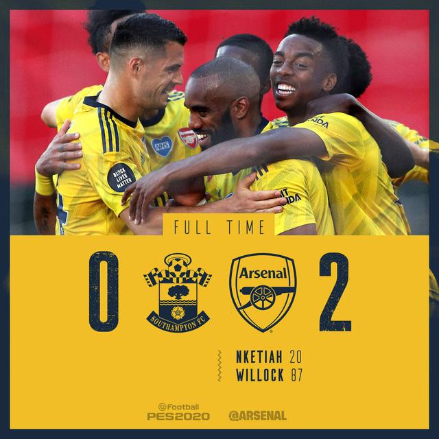 Southampton 0-2 Arsenal: Pháo thủ giành chiến thắng quan trọng (Vòng 31 Ngoại hạng Anh) - Ảnh 5.
