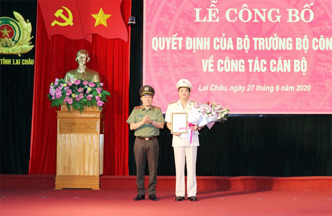 Công bố điều động, bổ nhiệm tân Giám đốc Công an tỉnh Lai Châu, Bắc Kạn - Ảnh 1.