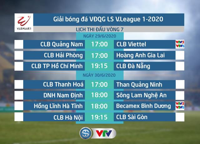 Lịch thi đấu và trực tiếp vòng 7 V.League 2020: CLB Quảng Nam - CLB Viettel, Hồng Lĩnh Hà Tĩnh - B.Bình Dương - Ảnh 1.