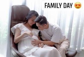 Cường Đô La âu yếm bụng bầu của bà xã, nhưng nhan sắc Đàm Thu Trang những tháng cuối thai kỳ lại gây bất ngờ - Ảnh 1.