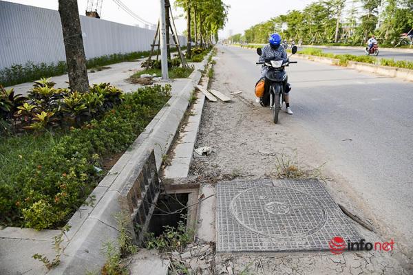 Hà Nội: Đại lộ nghìn tỷ vừa thông xe biến thành các bãi rác rùng mình - Ảnh 3.