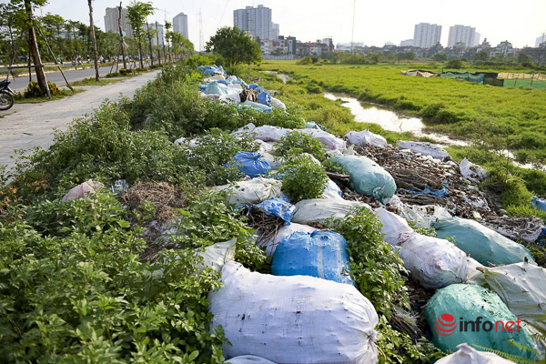 Hà Nội: Đại lộ nghìn tỷ vừa thông xe biến thành các bãi rác rùng mình - Ảnh 5.