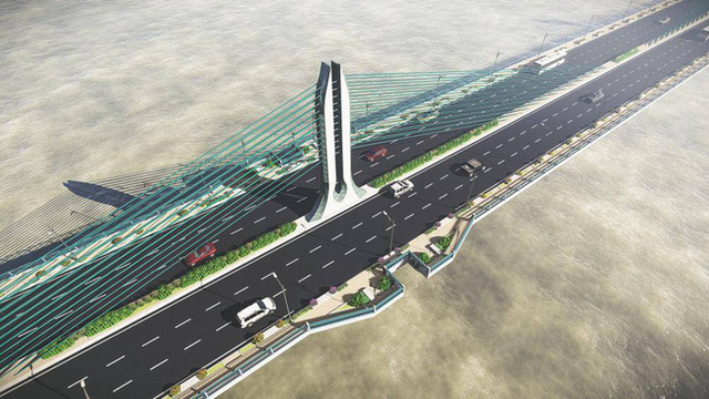 Hà Nội đang nghiên cứu cầu Trần Hưng Đạo 9.000 tỷ đồng nối 2 quận Hoàn Kiếm và Long Biên - Ảnh 1.