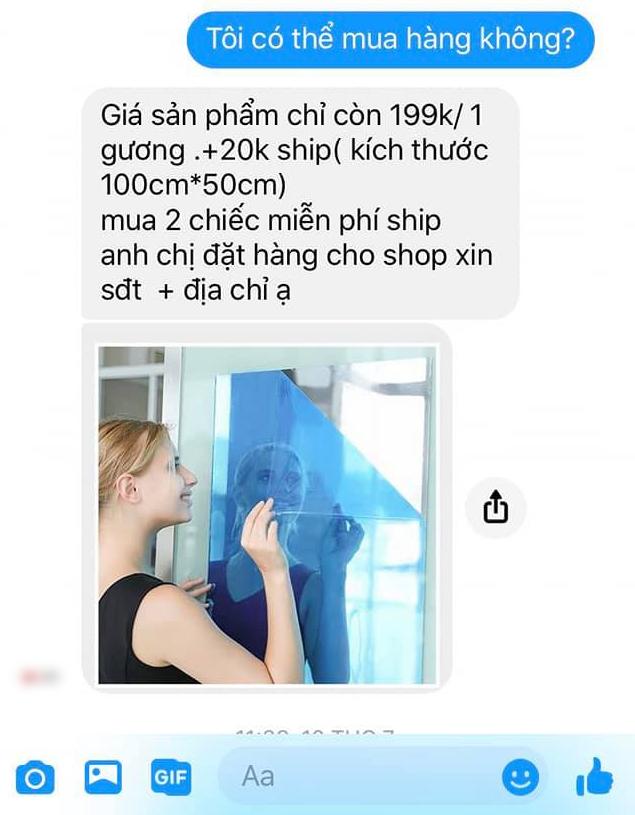 Mua hàng qua mạng được quảng cáo như rót mật, cô gái háo hức mang chiếc gương dán tường về nhà và cái kết méo mặt - ảnh 1