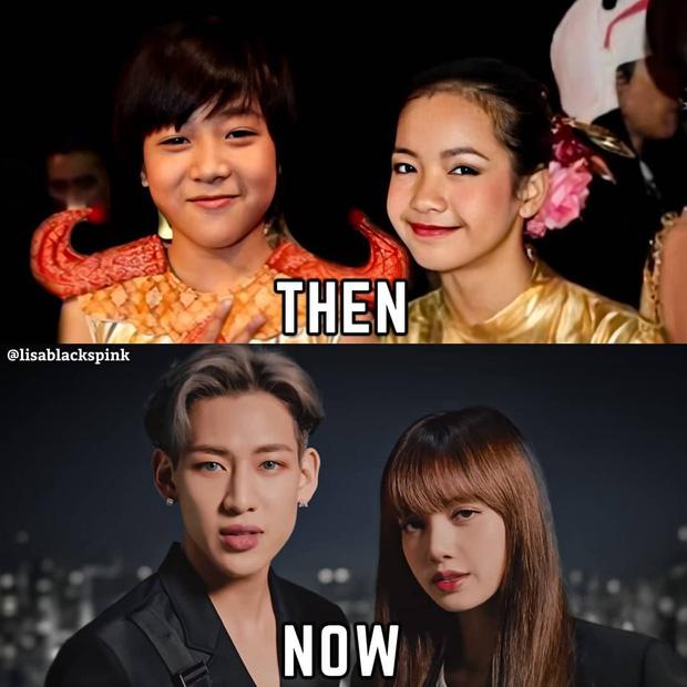 Màn dậy thì thành công của cặp bạn thân idol Thái hot nhất Kpop: Lisa lột xác, Bambam không cần gọi cô bạn là chị nữa rồi - Ảnh 1.
