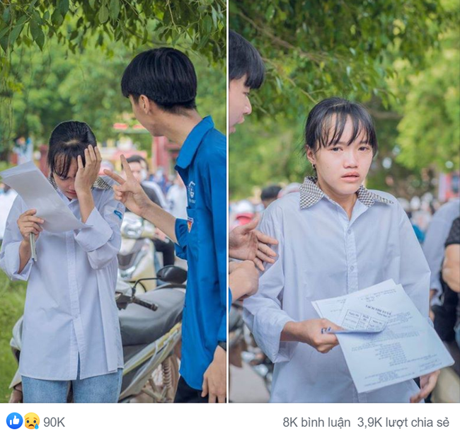 Hình ảnh giọt nước mắt mùa thi trông đến tội, ấy thế nhưng lời động viên cho nữ sinh mới chiếm spotlight với 90 ngàn lượt yêu thích - Ảnh 1.