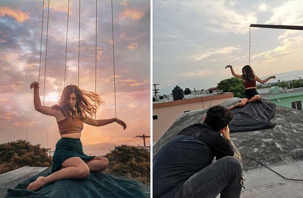 Loạt hậu trường khó đỡ của những bức ảnh long lanh trên Instagram khiến dân tình phải nể phục óc sáng tạo của hội phó nháy - Ảnh 10.