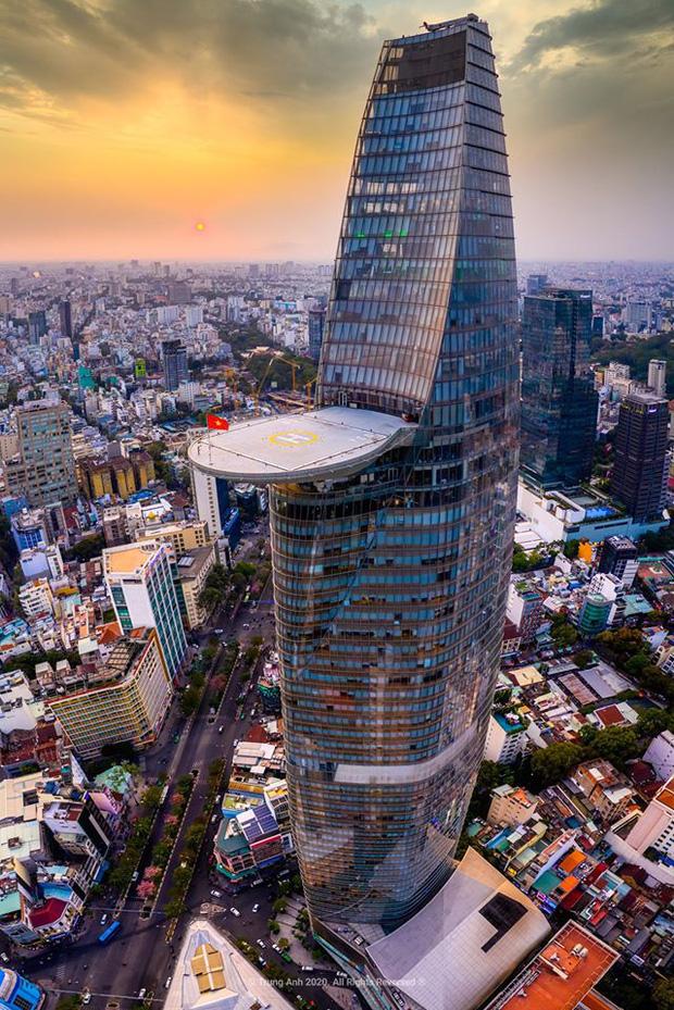 Khoảnh khắc 2 toà tháp cao nhất Sài Gòn vô tình lọt chung khung hình khiến dân mạng thảng thốt: Đẹp như cảnh trong phim Hollywood vậy! - Ảnh 3.