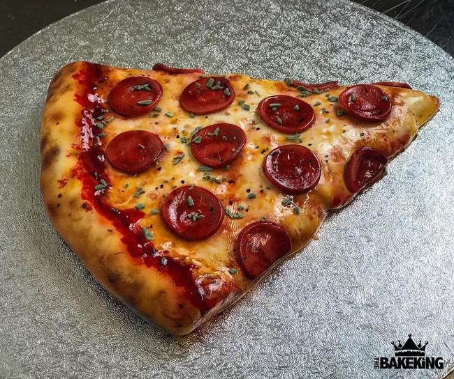 Nếu bạn nghĩ đây là miếng pizza ngon lành thì bạn đã sai hoàn toàn, không ít người phải ăn cú lừa ngoạn mục để rồi trầm trồ thán phục - Ảnh 1.