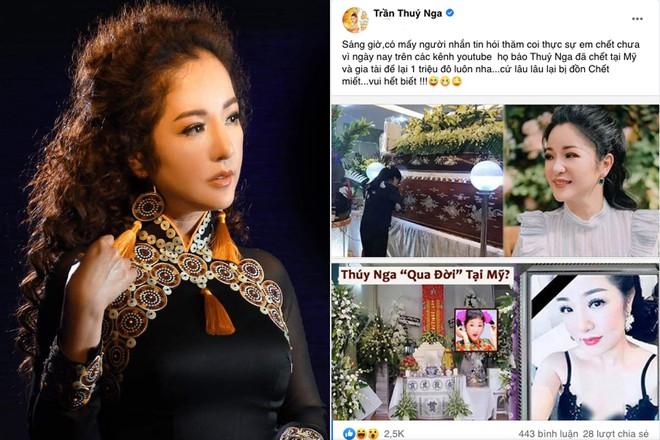 Muôn kiểu phản ứng của sao Việt khi bị trù ẻo đã qua đời - ảnh 1