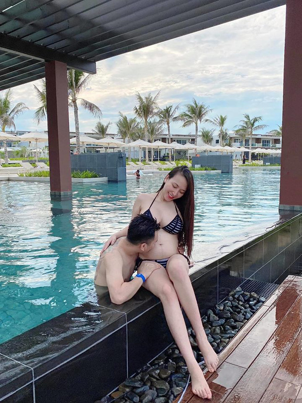 Bà xã Khắc Việt tự tin tung ảnh bikini ôm bụng bầu 6 tháng: Vòng 2 nhô lên lớn rõ nhưng body vẫn nóng bỏng quá! - Ảnh 2.