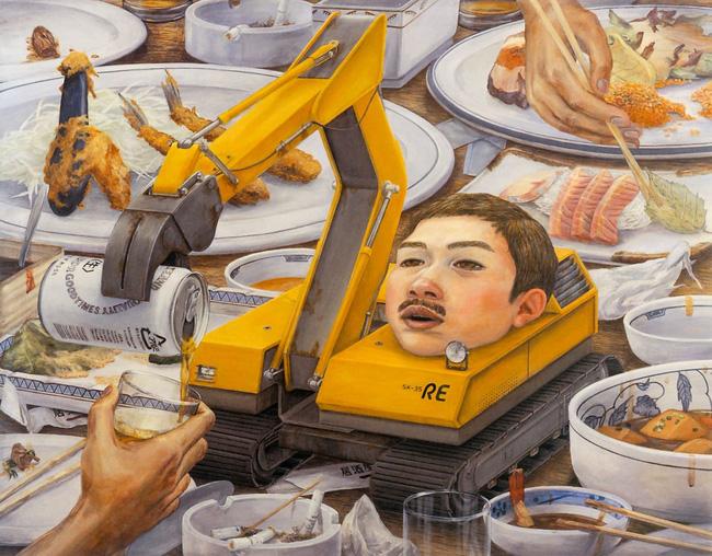 Qua đời ở tuổi 31, họa sĩ Nhật để lại 180 tác phẩm siêu thực đầy ám ảnh về góc khuất của thế giới hiện đại - Ảnh 16.