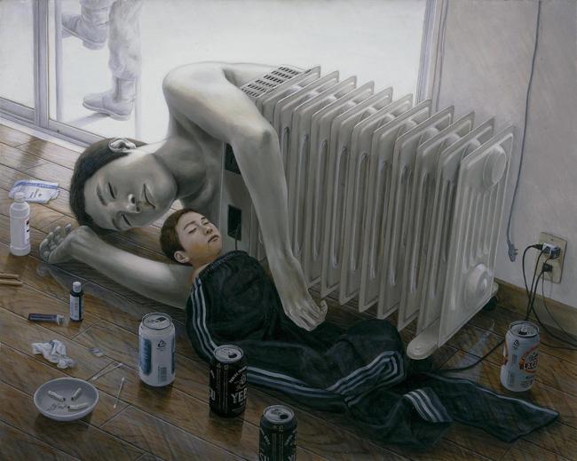 Qua đời ở tuổi 31, họa sĩ Nhật để lại 180 tác phẩm siêu thực đầy ám ảnh về góc khuất của thế giới hiện đại - Ảnh 20.
