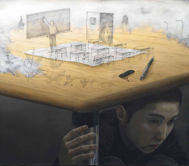 Qua đời ở tuổi 31, họa sĩ Nhật để lại 180 tác phẩm siêu thực đầy ám ảnh về góc khuất của thế giới hiện đại - Ảnh 21.