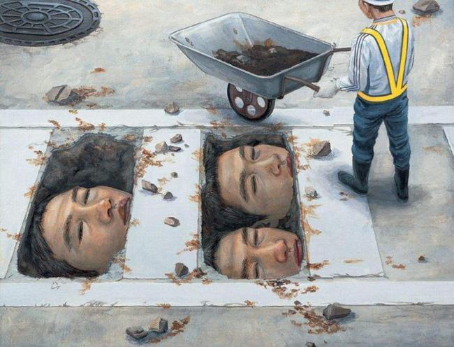 Qua đời ở tuổi 31, họa sĩ Nhật để lại 180 tác phẩm siêu thực đầy ám ảnh về góc khuất của thế giới hiện đại - Ảnh 23.