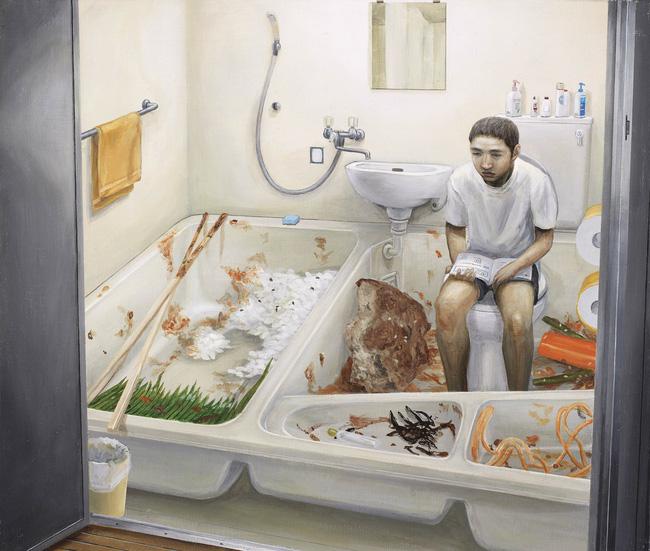 Qua đời ở tuổi 31, họa sĩ Nhật để lại 180 tác phẩm siêu thực đầy ám ảnh về góc khuất của thế giới hiện đại - Ảnh 9.