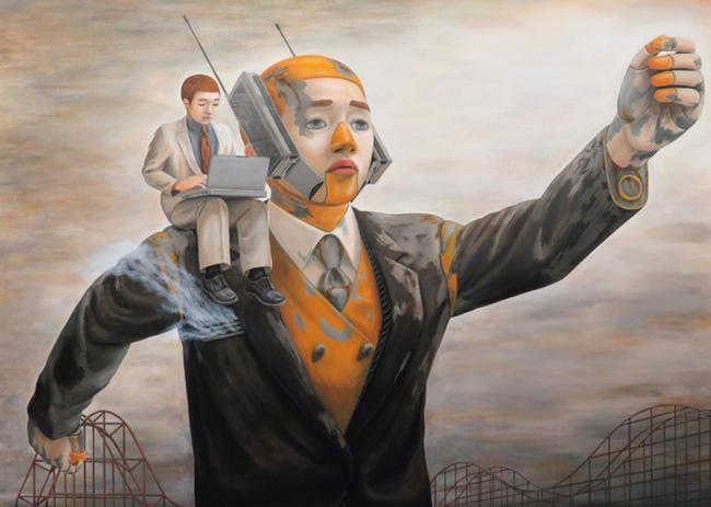 Qua đời ở tuổi 31, họa sĩ Nhật để lại 180 tác phẩm siêu thực đầy ám ảnh về góc khuất của thế giới hiện đại - Ảnh 11.