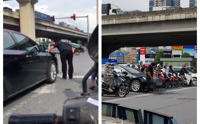 Dừng ở ngã tư, người đàn ông bước đến cạnh ô tô và có hành động khiến cả phố hoảng hốt, ''đỏ mặt'' quay đi
