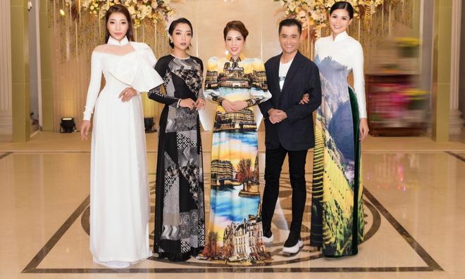 Ca sĩ Phương Anh, hoa hậu Kim Nguyên đẹp nổi bật với áo dài của NTK Nhật Dũng - Ảnh 1.