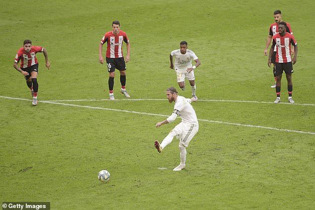 Athletic Bilbao 0-1 Real Madrid: Ramos tỏa sáng, Real Madrid tiến sát ngôi vô địch - Ảnh 3.