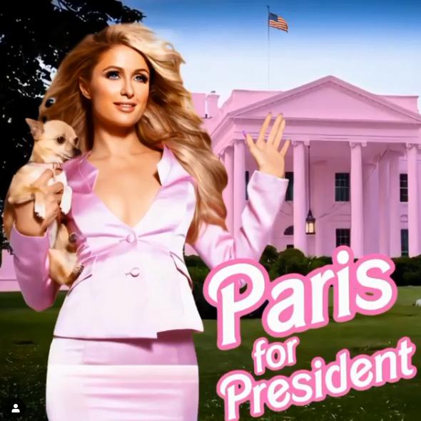 Sau Kanye West, người đẹp tỷ phú Paris Hilton bất ngờ tuyên bố tranh cử Tổng thống Mỹ? - ảnh 2