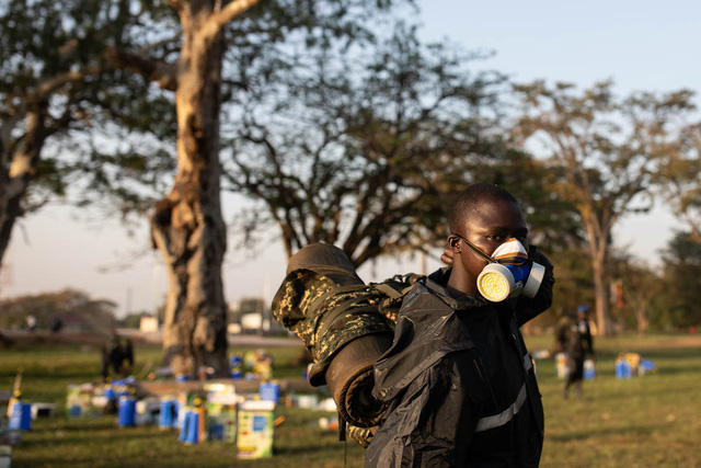 Chùm ảnh rợn người về đại dịch châu chấu đang hoành hành ở châu Phi: 'Binh đoàn' nghìn tỷ con châu chấu với sức ăn bằng 35.000 người/ngày bay kín trời - ảnh 3